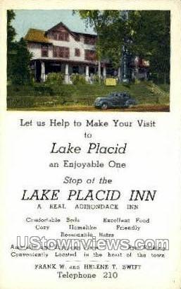 Lake Placid Inn - New York NY Postcard