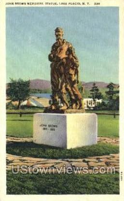 John Brown Memorial Statue - Lake Placid, New York NY Postcard