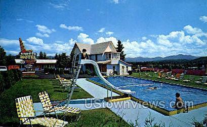 Knotts Deluxe Motel - Lake Placid, New York NY Postcard