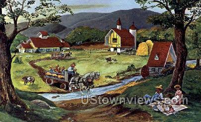 Old McDonald's Farm - Lake Placid, New York NY Postcard