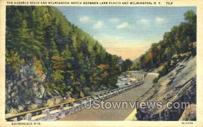Ausable River - Lake Placid, New York NY Postcard