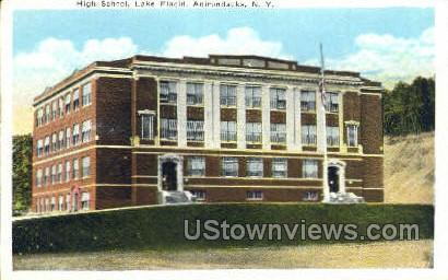 High School - Lake Placid, New York NY Postcard