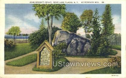 John Brown's Grave - Lake Placid, New York NY Postcard
