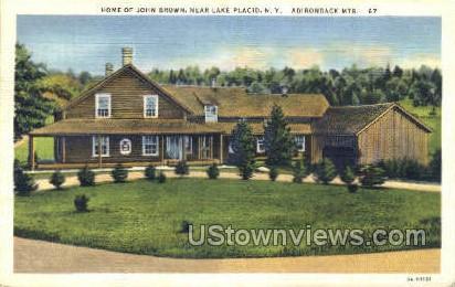 Home of John Brown - Lake Placid, New York NY Postcard