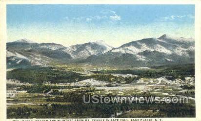 Mts. Marcy - Lake Placid, New York NY Postcard
