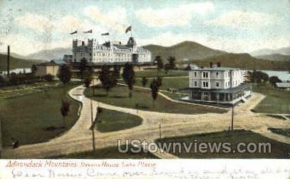Stevens House - Lake Placid, New York NY Postcard