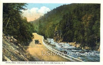 Wilmington Notch - Lake Placid, New York NY Postcard