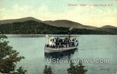 Steamer Doris - Lake Placid, New York NY Postcard