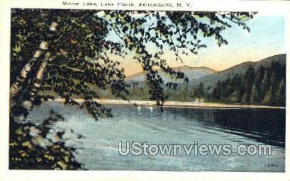 Mirror Lake - Lake Placid, New York NY Postcard