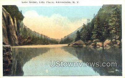 Lake Golden - Lake Placid, New York NY Postcard
