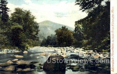 Au Sable River - Lake Placid, New York NY Postcard