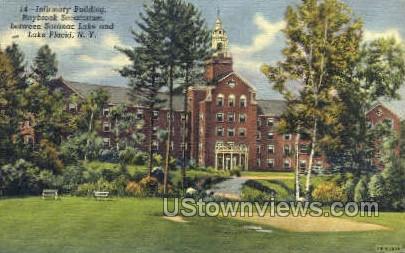 Infirmary Bldg - Lake Placid, New York NY Postcard