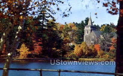 Year Round Vacationland - Lake Placid, New York NY Postcard
