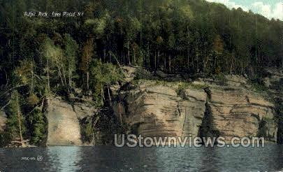 Pulpit Rock - Lake Placid, New York NY Postcard
