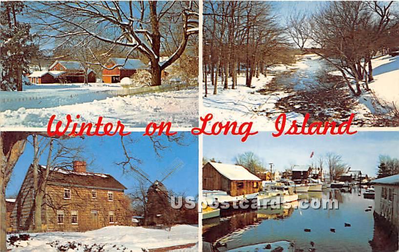 Winter - Long Island, New York NY Postcard