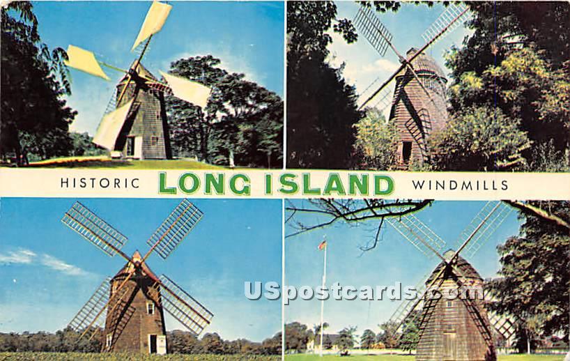 Windmills - Long Island, New York NY Postcard