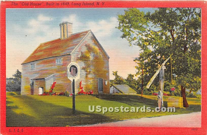 Old House 1649 - Long Island, New York NY Postcard