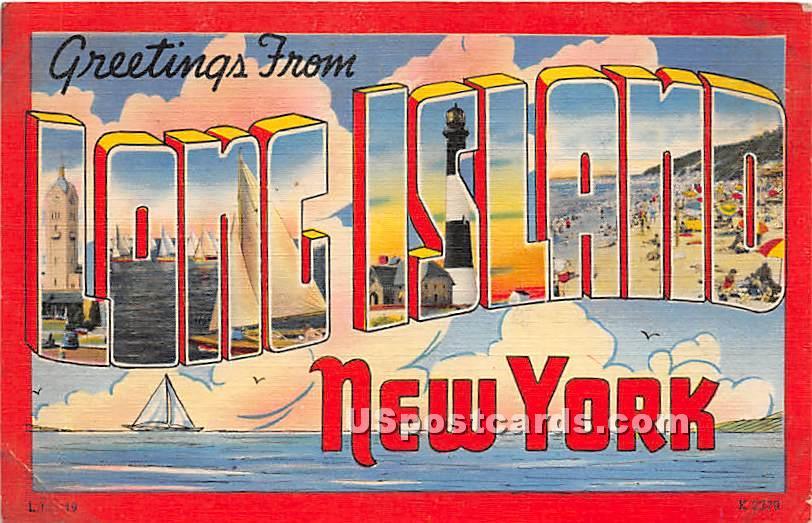 Long Island, New York NY Postcard