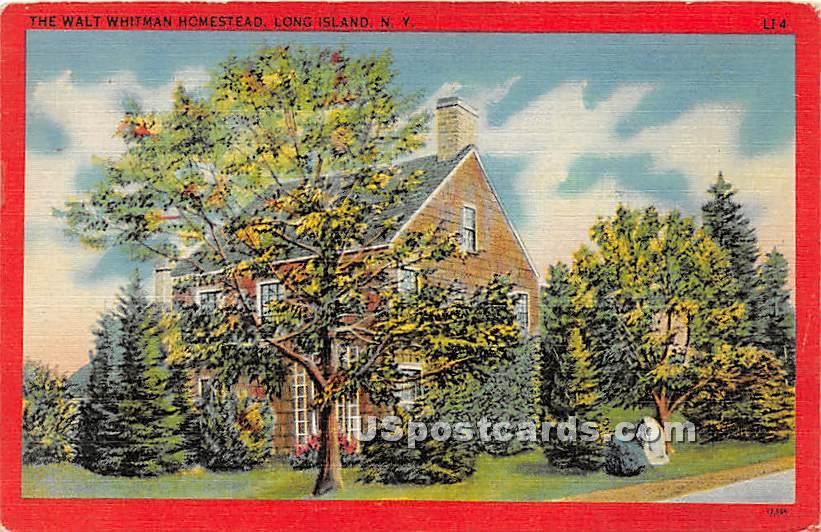 Walt Whitman Homestead - Long Island, New York NY Postcard