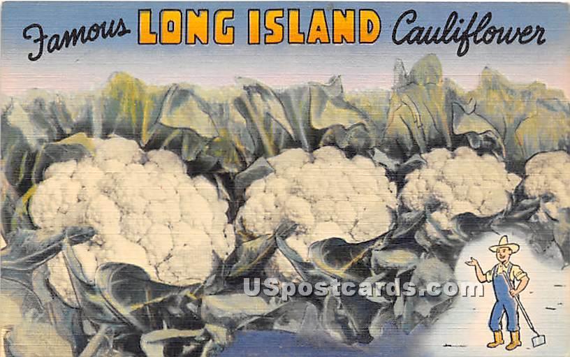 Cauliflower - Long Island, New York NY Postcard