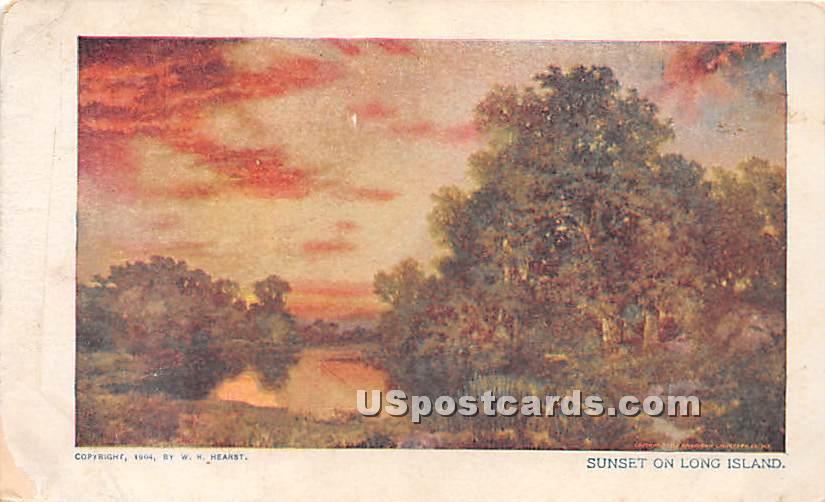 Sunset - Long Island, New York NY Postcard
