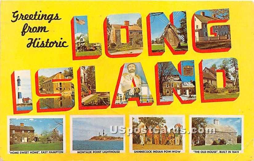 Greetings from - Long Island, New York NY Postcard