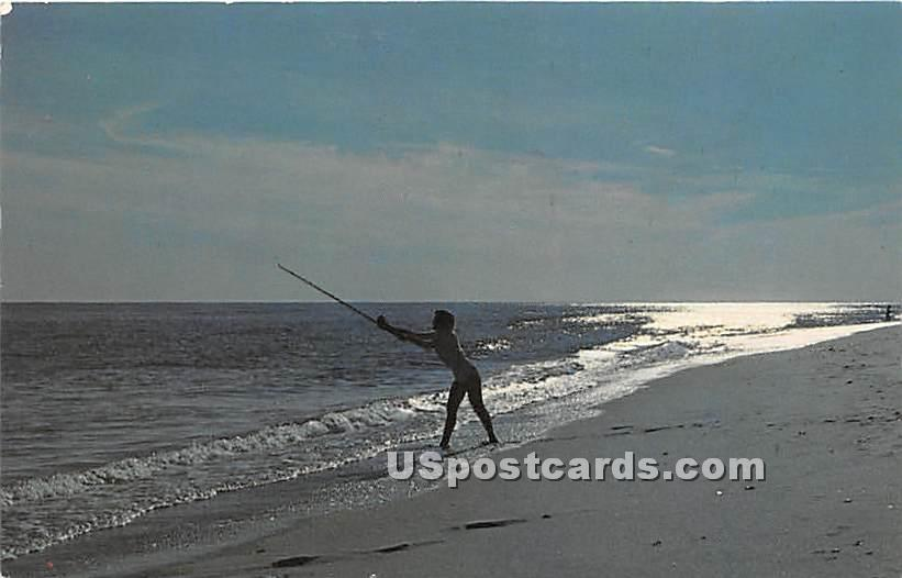 Fishing Paradise - Long Island, New York NY Postcard