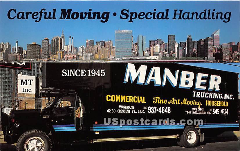 Manber Trucking Inc - Long Island, New York NY Postcard