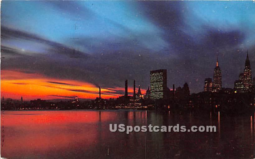 Midtown Manhattan - Long Island, New York NY Postcard