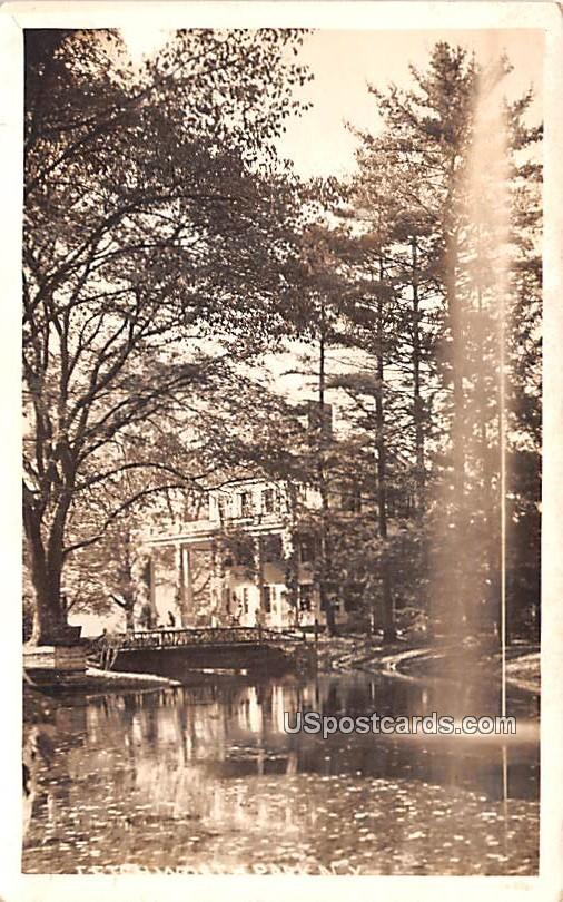 Water and Tree View - Letchworth Park, New York NY Postcard