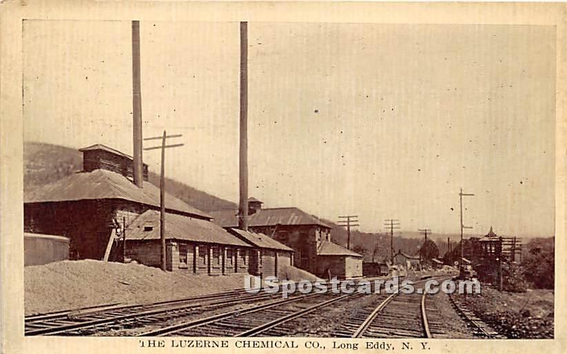 The Luzerne Chemical Co - Long Eddy, New York NY Postcard