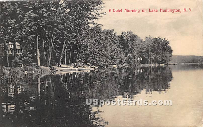 Quiet Morning - Lake Huntington, New York NY Postcard