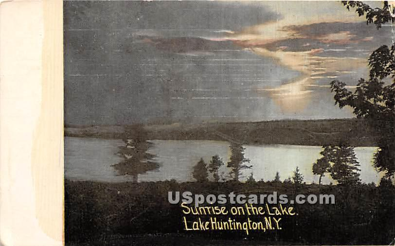 Sunrise on the Lake - Lake Huntington, New York NY Postcard