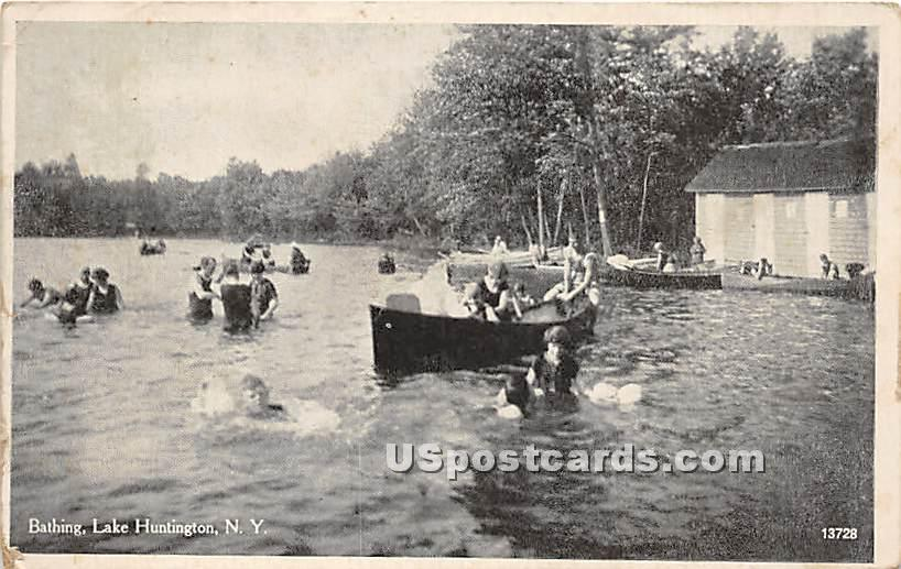 Bathing - Lake Huntington, New York NY Postcard