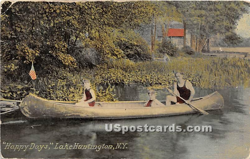 Happy Days - Lake Huntington, New York NY Postcard