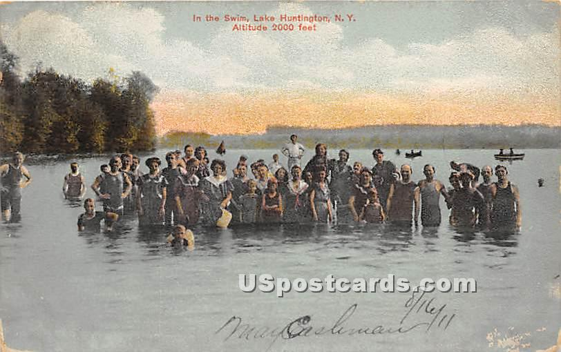 In the Swim - Lake Huntington, New York NY Postcard