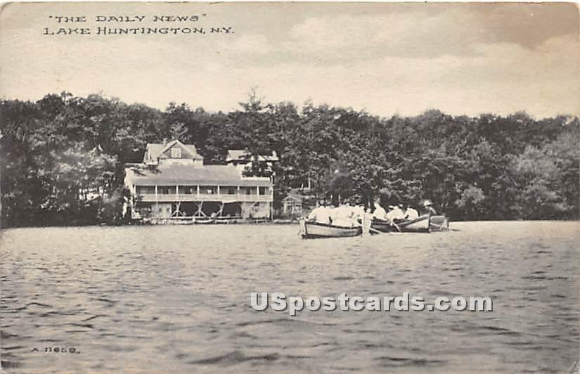The Daily News - Lake Huntington, New York NY Postcard