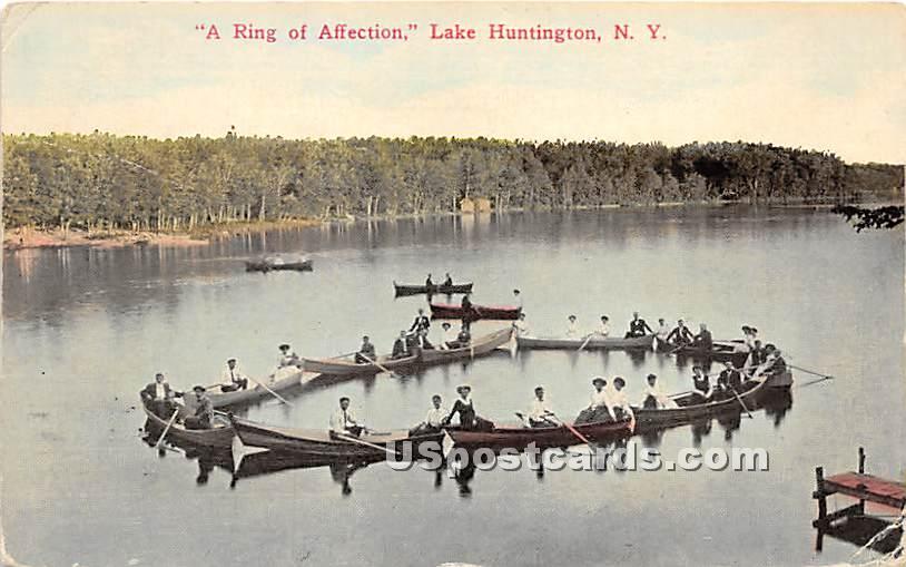 A Ring of Affection - Lake Huntington, New York NY Postcard