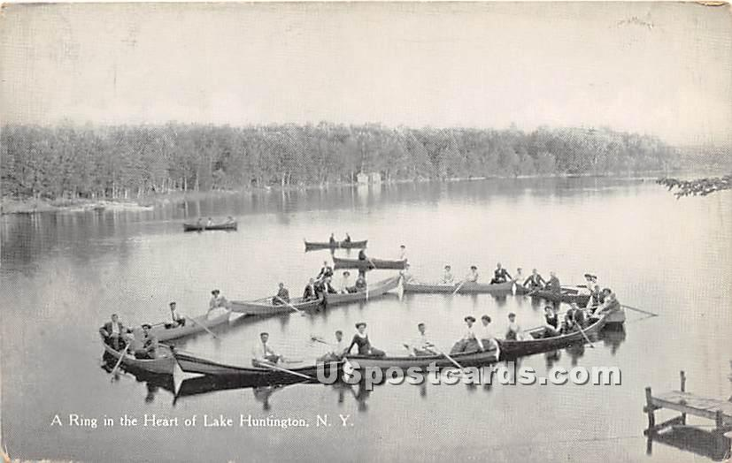 Ring in the Heart of Lake - Lake Huntington, New York NY Postcard