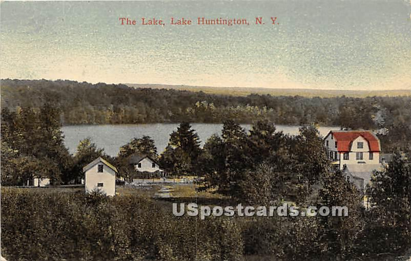 The Lake - Lake Huntington, New York NY Postcard