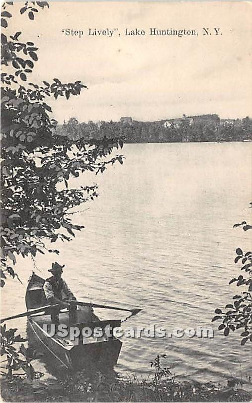 Step Lively - Lake Huntington, New York NY Postcard
