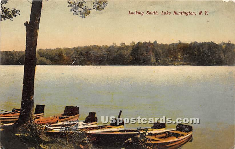 Looking South - Lake Huntington, New York NY Postcard