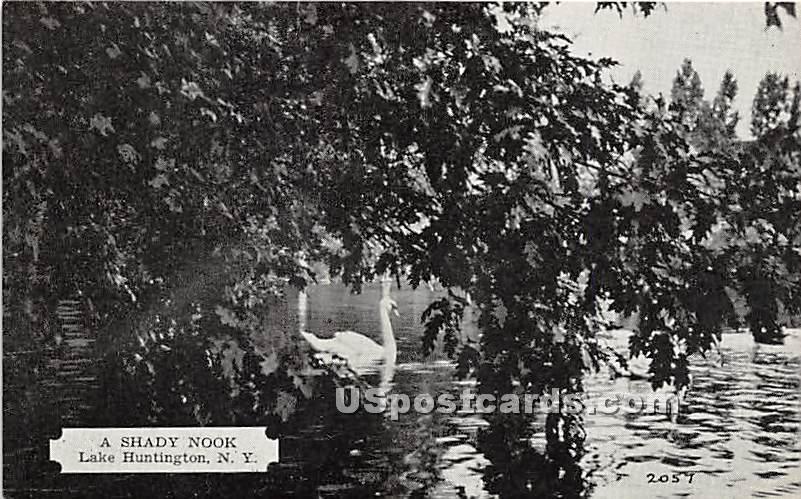 Shady Nook - Lake Huntington, New York NY Postcard