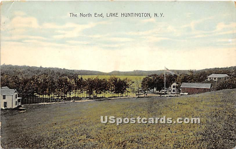 The North End - Lake Huntington, New York NY Postcard