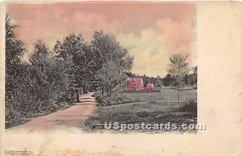 Driveway - Lake Huntington, New York NY Postcard