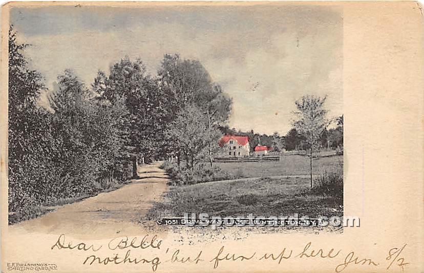 Driveway - Lake Huntington, New York NY Postcard