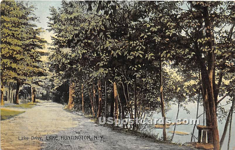 Lake Drive - Lake Huntington, New York NY Postcard