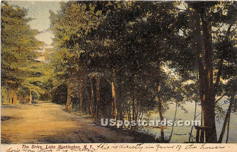 The Drive - Lake Huntington, New York NY Postcard