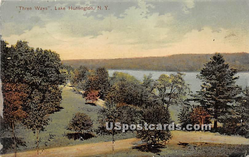 Three Ways - Lake Huntington, New York NY Postcard