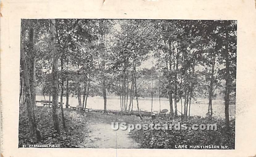 Road Scene - Lake Huntington, New York NY Postcard